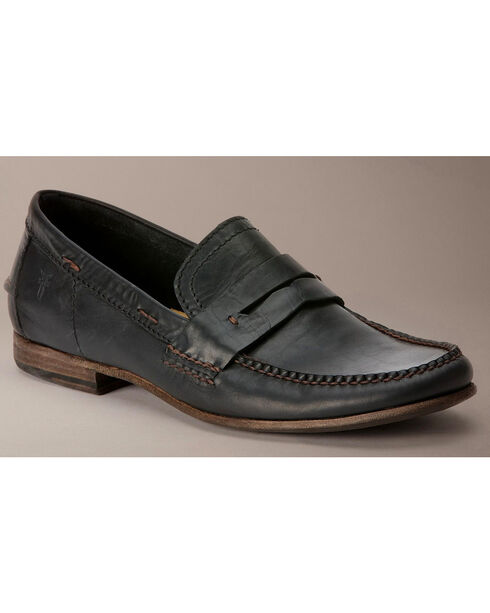 Frye Lewis Leather Penny Loafers, Black, hi-res