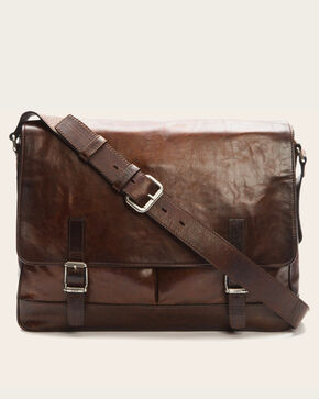 Frye Men's Dark Brown Oliver Messenger Bag , Dark Brown, hi-res
