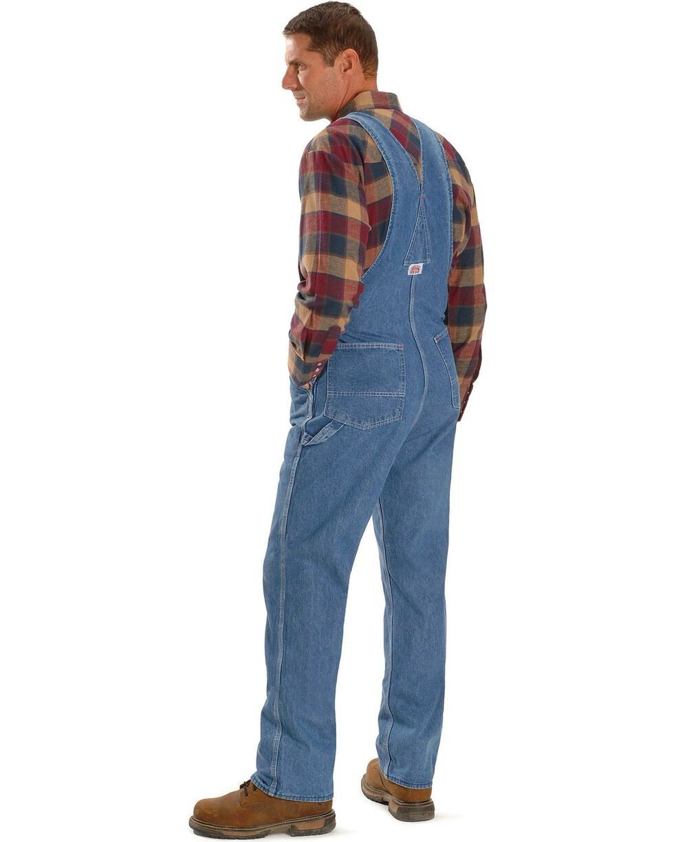Round House Men's Denim Zip Overalls, Stonewash, hi-res
