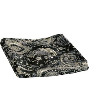 Black Paisley Silk Wild Rag, Black, hi-res