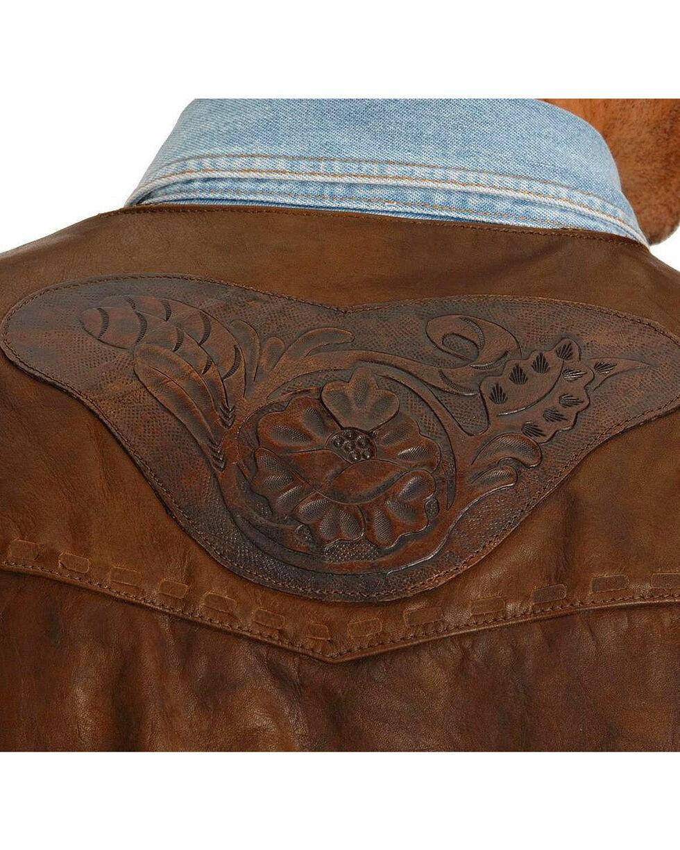 Kobler Tooled Leather Vest, Acorn, hi-res