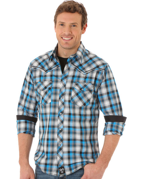Wrangler Men's Rock 47 Plaid Long Sleeve Shirt , Multi, hi-res