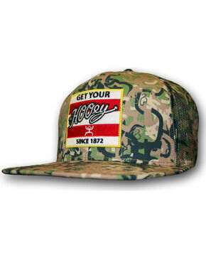 HOOey Men's Camo Ziggy Trucker Hat  , Camouflage, hi-res