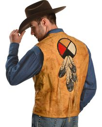 Kobler Circle of Life Leather Vest, , hi-res