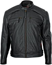 Milwaukee Men's Warrior Leather Motorcycle Jacket, , hi-res