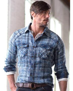 Ryan Michael Men's Indigo Double Face Shirt, Indigo, hi-res