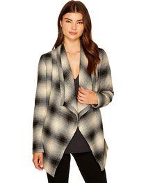 Jack Women's Mower Light Plaid Drape Front Jacket, , hi-res