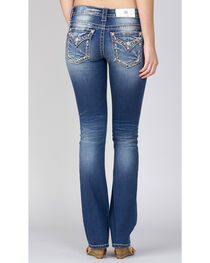 Miss Me Women's Indigo Embroidered Pocket Slim Fit Jeans - Boot Cut, , hi-res