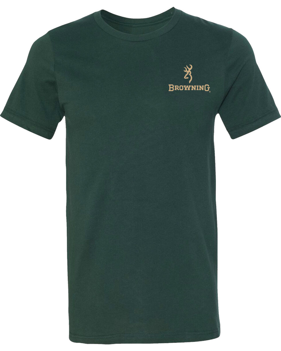 Browning Men's Pheasant Buckmark Forest Short Sleeve Tee, Forest Green, hi-res