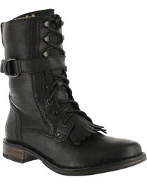 UGG Women's Black Jenna Military Boots - Round Toe , , hi-res