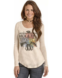 Rock & Roll Cowgirl Women's Cream Thunderbird Graphic Tee , , hi-res