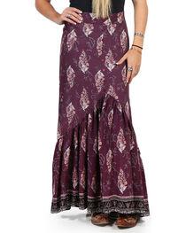 Luna Chix Women's Purple Floral Maxi Skirt , , hi-res