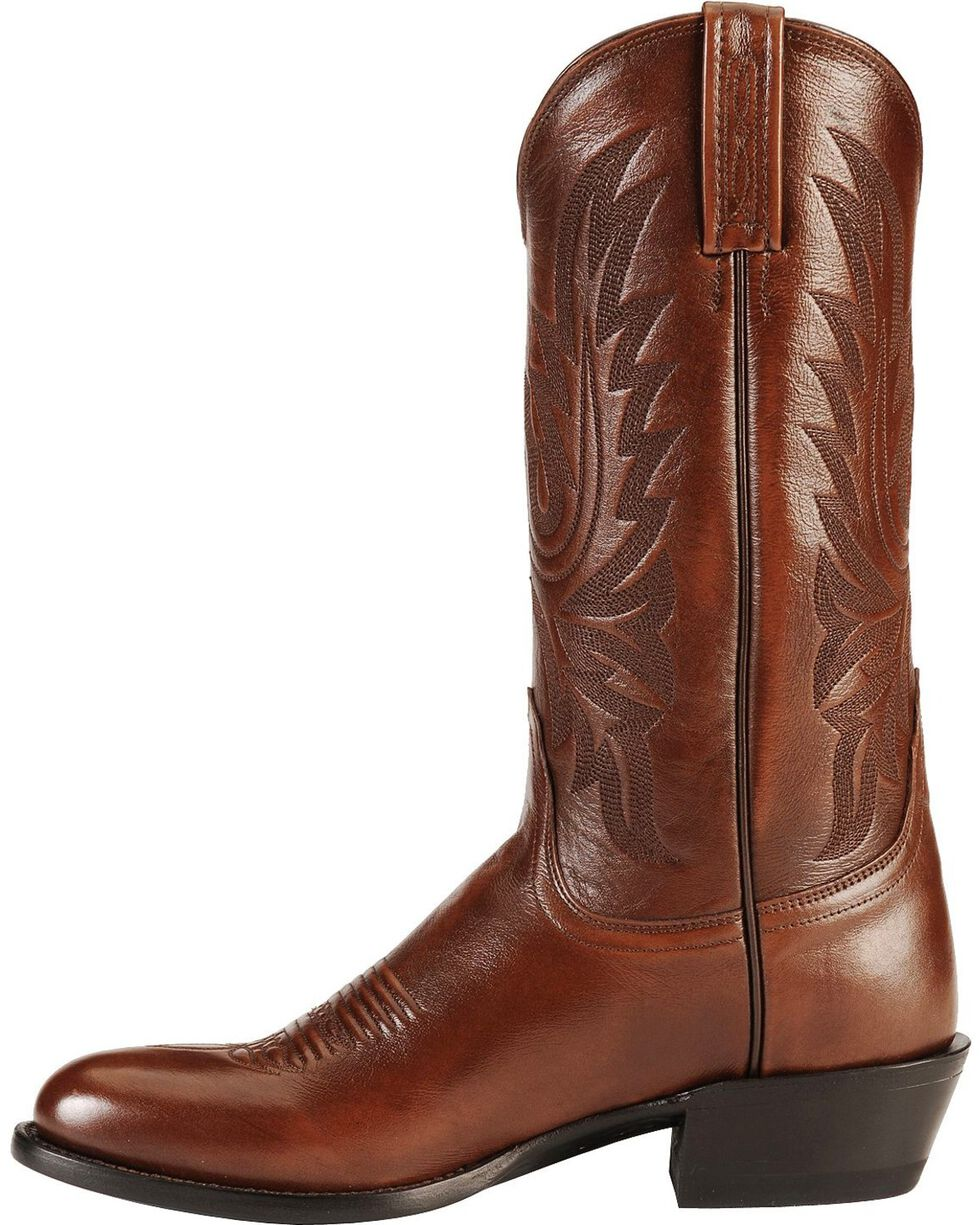 Lucchese Men's Embroidered Western Boots, Brown, hi-res