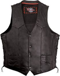 Milwaukee Motorcycle Classic Leather Vest, , hi-res