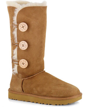 UGG® Women's Bailey Button Triplet II Water Resistant Boots, Chestnut, hi-res