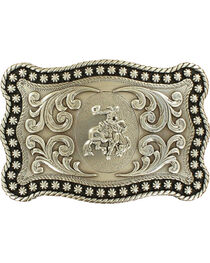 Nocona Men's Silver Bronc Rider Belt Buckle, , hi-res