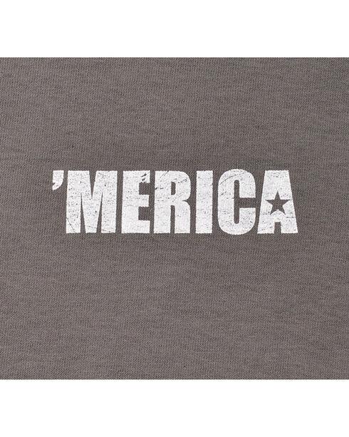 Buck Wear Men's Ban Idiots Tee, Charcoal Grey, hi-res