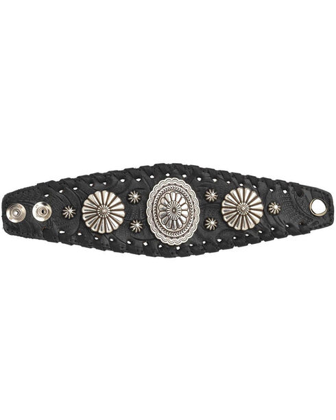 American West Women's Black Wide Cuff Bracelet , Black, hi-res