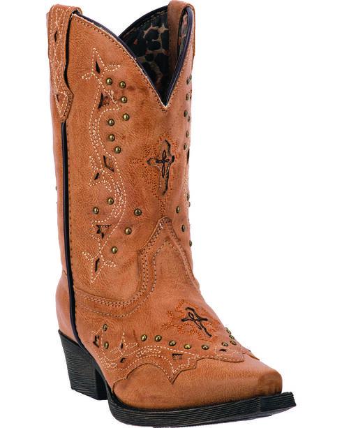 Laredo Kid's Xavi Western Boots, Tan, hi-res