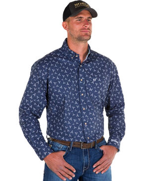 Noble Outfitters Men's Navy Generations Bull Skull Shirt , Navy, hi-res