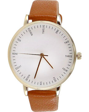 Shyanne® Women's Gold-Tone Watch, Cognac, hi-res