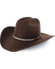 Cody James® Men's Ramrod 3X Low Cattleman Pro Rodeo Felt Hat, , hi-res