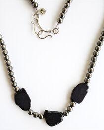 West & Co. Women's Worn Silver Black Stones Necklace, , hi-res