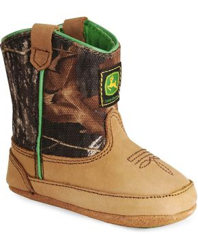 John Deere® Mossy Oak Infant Bootie, Camouflage, hi-res