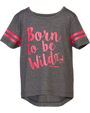 Real Tree® Toddler Girls' Born To Be Wild Short Sleeve Shirt, Grey, hi-res