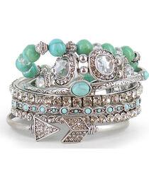 Shyanne Women's Turquoise Bangle Bracelet Set, , hi-res