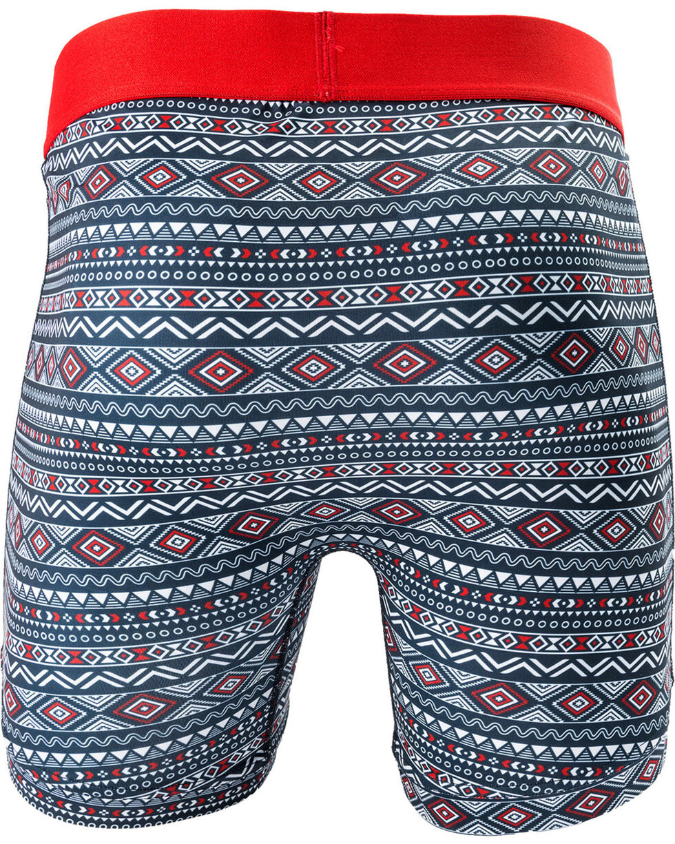 "Cinch Men's Aztec Print 6"" Boxer Briefs, Multi, hi-res"