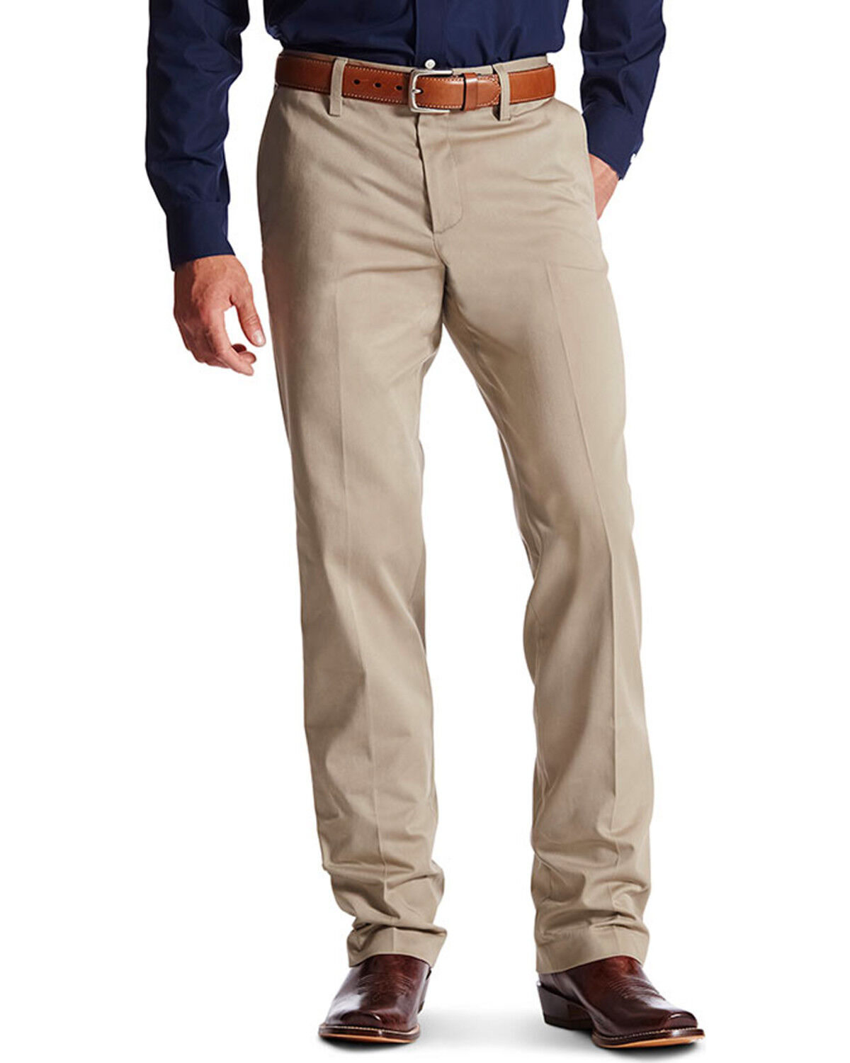 Relaxed bootcut khakis