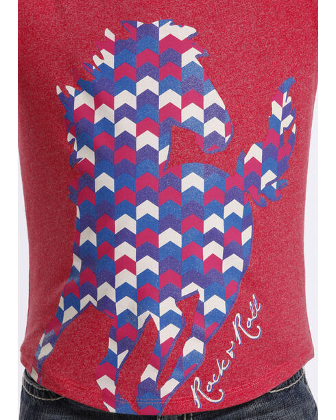 Rock & Roll Cowgirl Girls' Short Sleeve Horse T-Shirt , Multi, hi-res