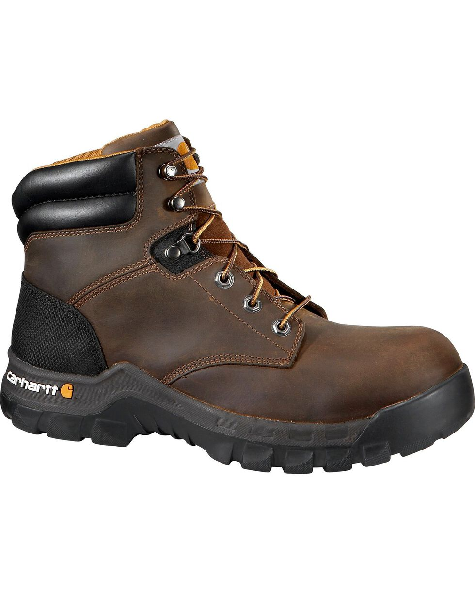 "Carhartt Work Flex 6"" Lace-Up Work Boots - Round Toe, Brown, hi-res"