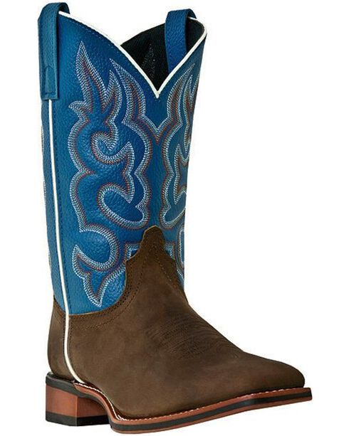 Laredo Men's Lodi Square Toe Western Boots, Dark Brown, hi-res
