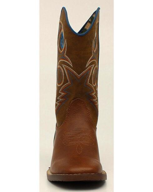 Double Barrel Boys' Dylan Cowboy Boots - Square Toe, Rust, hi-res