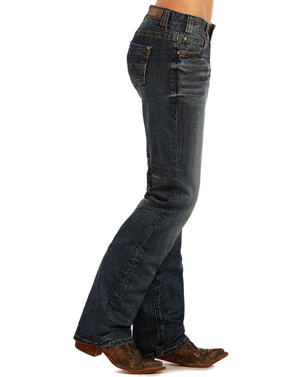 Rock & Roll Cowgirl Women's Classic Riding Jeans, Blue, hi-res