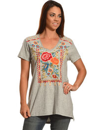 Johnny Was Women's Lucla Relaxed V-Neck Tee, , hi-res