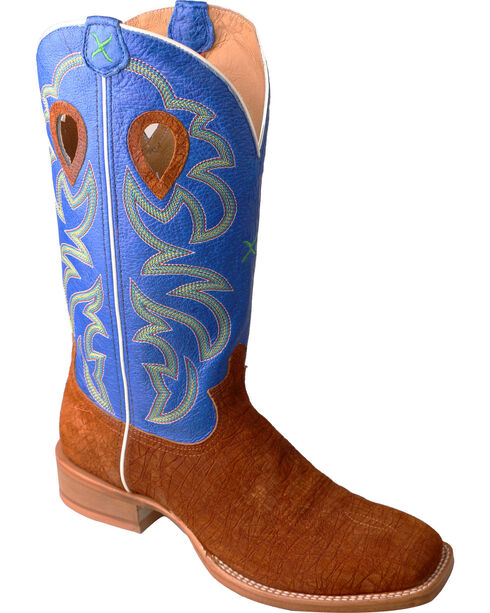 Twisted X Men's Square Toe Western Boots, Cognac, hi-res