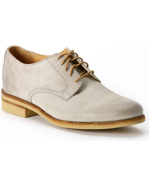 Frye Women's Jill Oxford Shoes - Round Toe, Cement, hi-res
