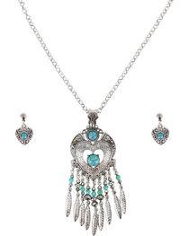 Shyanne® Women's Heart Dreamcatcher Jewelry Set , , hi-res