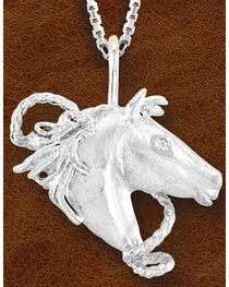 Kelly Herd Women's Sterling Silver Horsehead Necklace, , hi-res