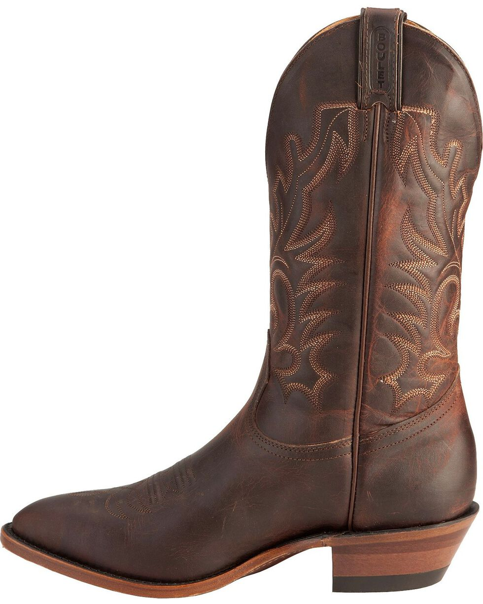 "Boulet Men's 13"" Medium Cowboy Toe Boots, Copper, hi-res"