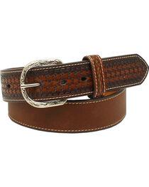 Nocona Men's Leather Ribbon Knot Belt , , hi-res