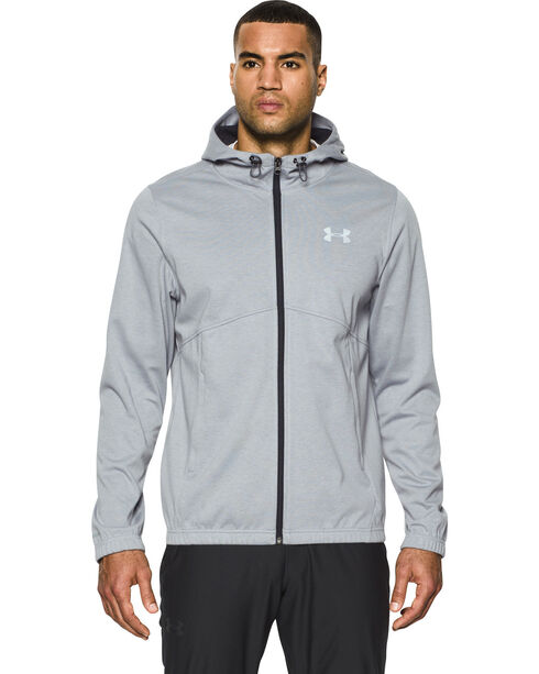Under Armour Men's Grey Storm Spring Swacket Hoodie, Grey, hi-res