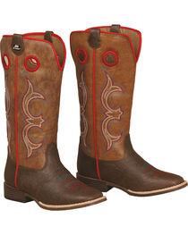 Double Barrel Boys' Kolter Zip Cowboy Boots - Square Toe , , hi-res