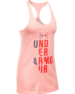Under Armour Women's Pink Graphic Tank Top, Pink, hi-res