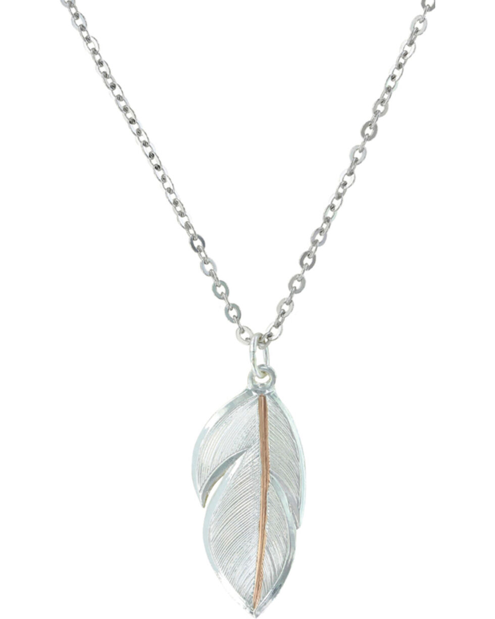 Montana Silversmiths Downy Feather Necklace, Multi, hi-res