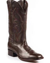 Stetson Boone Calf Skin Boots - Square Toe, Dark Brown, hi-res