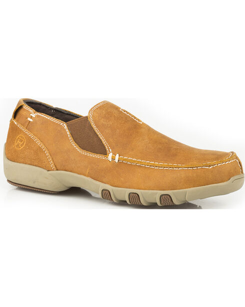 Roper Women's Buzzy Vintage Tan Leather Driving Mocs - Moc Toe, Tan, hi-res
